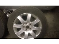 mk 5 vw golfs alloys with good tryes 2004/7
