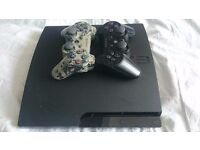 Sony PlayStation 3 Slim 320 GB Charcoal Black Console BUNDLE CONTROLLERS + GAMES