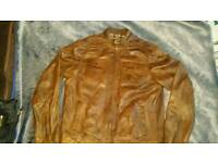Mens leather jacket large new