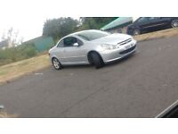 Convertible Peugeot 307 mot July no tax spear's or repair
