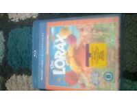 new and sealed lorax blu ray, dvd,ultravoilet copy £3