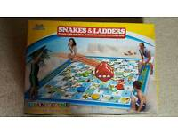Giant Snakes and ladders game for indoor or outdoor use