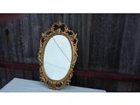 Heavy Metal Painted Iron Retro Oval Mirror