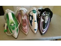 Steam Irons x 4 (for repair/spares)