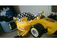 Racing car baby walker yellow