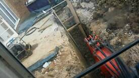 Digger hire with driver excavator with operator all types of machinery plant