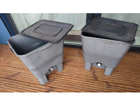 2x Bokashi Bins - for use in kitchen, takes meat and pretty much anything really