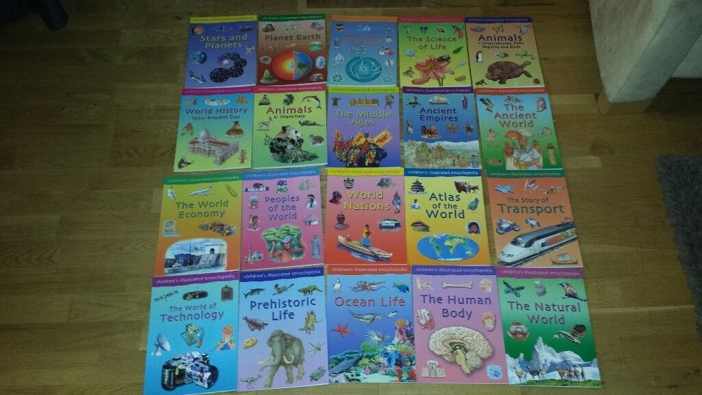 Childrens Illustrated Encyclopedia - set of 20