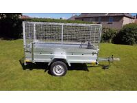 CAGE TRAILER - 8,7FT X 4,2FT MESH SIDES TRAILER £1050 inc vat BEST PRICE !!!!!