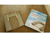 Weightwatchers ultra slim glass body analyser scale