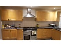 Kitchen for sale - solid wood doors, take or leave what you need, cooker and microwave included.