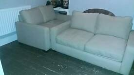 2x two seater sofa's / double sofa bed