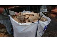 Tote bag of firewood