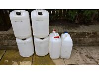 25 litre Water Containers (6 available)