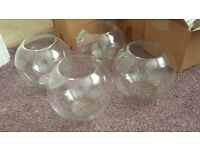 Glass Bubble Fish Bowl Vase (x4) from Oasis floral supplies. Perfect for party special occasions