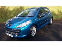 "PEUGEOT 207 1.6 HDi SPORT, 2008 ""57"" STUNNING BLUE, 5 x DOOR & IN GOOD CONDITION,"