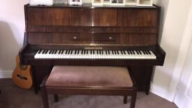 Hermann Mayer walnut upright piano Must be seen/played to be appreciated