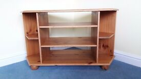 IKEA pine corner base storage unit suitable for TV, music system, CDs etc