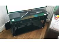 Black glass tv unit/stand excellent condition for flat screen tv £25