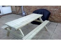 Picnic Bench, Handmade, Heavy Duty Pub Style 1.8m/6ft
