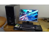 "VERY FAST CAD SSD Dell XPS 420 Quad Core Gaming Desktop Computer PC With Dell 21"" Widescreen"
