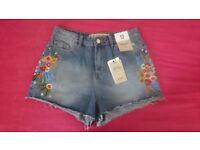 brand new denim shorts size 12