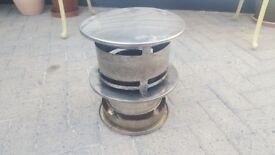 Stainless Steel Flue Cowl To Fit Twin Wall Flu Pipe - Excellent Condition
