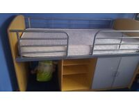 Single cabin bed with matress