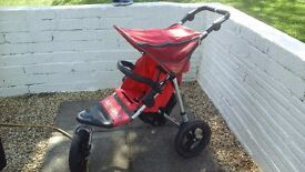 Out n About Nipper 360 single red buggy