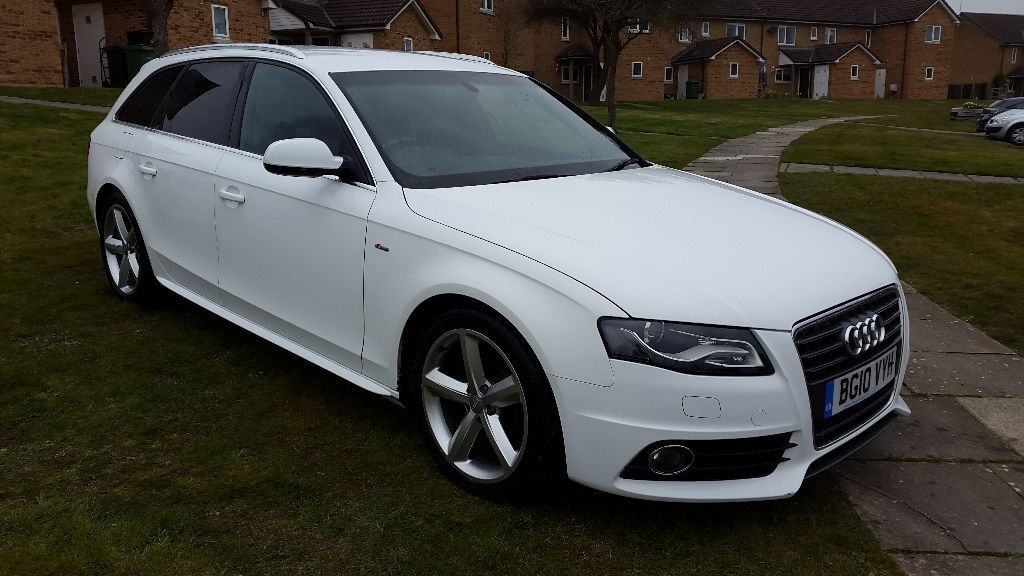 Audi A4 Avant S Line 2 0 Tfsi 211 In White In Fairford