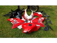 Ducati 848 wheels, tank and fairing