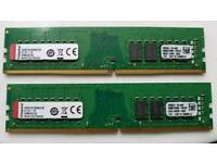 32GB KINGSTON 32 GB DDR4 RAM 2 X 16GB 2X16GB DDR 4 RAM kit PC4 2133 CL15 PC Desktop