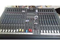PA SYSTEM - Soundcraft Spirit Powerstation 1200 desk with case & stand, Yamaha speakers & stands