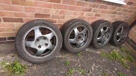 Honda civic 15 inch Fan blade alloy wheels