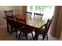 ***FREE***Oak extendable dining table and 6 chairs
