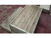 🌟 High Quality Waneylap Timber Fencing Panels 8mm Boards