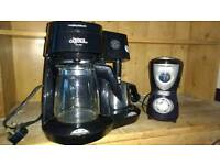 Filter coffee machine and grinder
