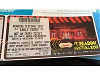 Reading festival early entry ticket 23rd Aug