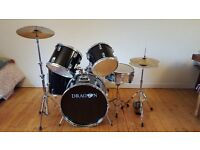 Black Dragon Drum Kit with accessories