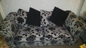 Dfs Rose print Sofas.