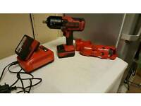Snap on 1/2inch impact gun 18 volt around 1 year old 2 batteries