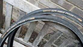 26 inch slick punture proof pair tyres continental grand prix