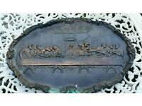 Solid copper religeous large plaque