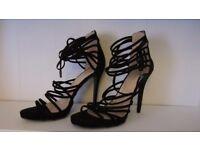 Bebo strappy black high heel sandals size 7