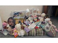 Car Boot Job Lot Bundle: Desk Lamp, Sewing Magnifier, Cuddly Toys, Picture Frame, Party Decorations