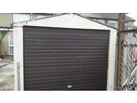 CONCRETE GARAGE WITH LOCKING DOORS
