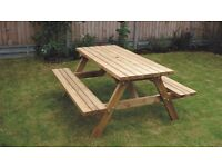 Picnic bench, 22mm Tanalised construction, 6ft long