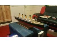 """Titanic model ship 43"""""""