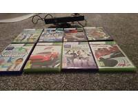 Xbox 360 Kinect and 8 games
