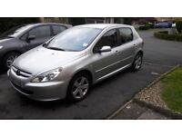 03 Plate Peugeot 307 2.0 HDI 110BHP 5 Door Hatchback (A/C)--Silver Colour
